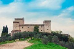 Historisches Gebäude in Umbrien (Italien) Lizenzfreies Stockfoto