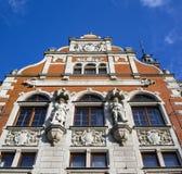 Historisches Gebäude von Bank, Opava, Tschechische Republik stockbild