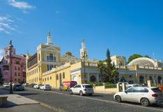 Historisches Gebäude der philharmonischen Halle des Azerbaijani Staates Stockfotos