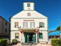 Historisches Gerichtsgebäude von Philipsburg, St. Maarten, Karibisches Meer lizenzfreies stockfoto