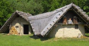 Historisches germanisches Bauernhaus Lizenzfreies Stockfoto