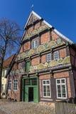 Historisches Haus Ackerburgerhaus in der Mitte von Verden lizenzfreie stockbilder