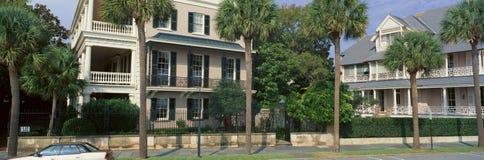 Historisches Haus auf Batterie-Straße in Charleston, Sc stockfotografie