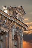 Historisches Haus bei Sonnenuntergang Stockfotografie