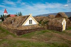 Historisches Haus Island Stockfoto