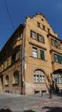 Historisches Haus in Sibiu, Rumänien Stockfotos