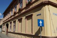 Historisches Haus in Sibiu, Rumänien Lizenzfreie Stockfotografie