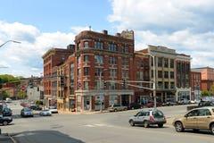 Historisches im Stadtzentrum gelegenes Bangor, Maine stockbild