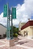 Historisches im Stadtzentrum gelegenes Titusville Stockfotos