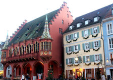 Historisches Kaufhaus, Freiburg-im-Breisgau, Duitsland Stock Fotografie