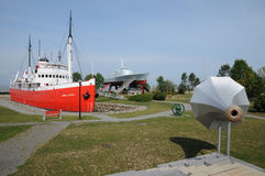 Historisches Marinemuseum von L mer sur der kleinen Insel Stockfotos