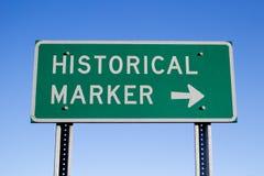 Historisches Markierungs-Zeichen Stockfotografie