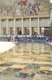 Historisches Museum in Tirana Berühmtes Mosaik vom Sozialismus Stockfoto