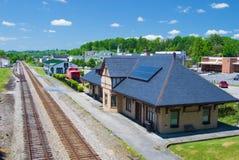 Historisches Norfolk u. Westpassagier-Depot, Abington, Virginia Stockbild