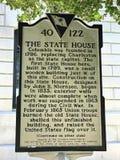 Historisches Plakat betreffend die Geschichte Süd-Carolina State Houses Stockfoto