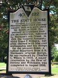 Historisches Plakat betreffend die Geschichte Süd-Carolina State Houses Lizenzfreies Stockbild