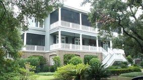 Historisches Plantagen-Haus South Carolina USA stockfotografie