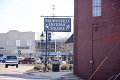 Historisches Quadrat in Brownsville Tennessee Lizenzfreie Stockfotos
