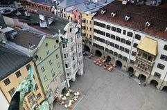 Historisches Quadrat von Innsbruck stockbild