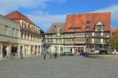Historisches Quedlinburg Stockbild
