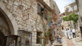 Historisches römisches Dorf in Eze stock footage