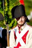 Historisches reenacting Militär Lizenzfreies Stockfoto