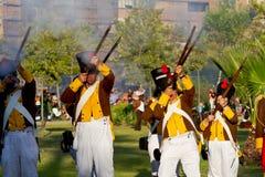 Historisches reenacting Militär stockfotografie