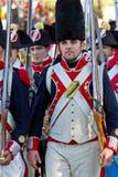 Historisches reenacting Militär lizenzfreie stockfotos