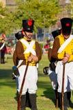 Historisches reenacting Militär stockfotos