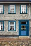 Historisches Reihenhaus Goslar Deutschland Stockbild