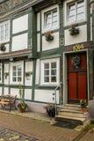 Historisches Reihenhaus Goslar Deutschland Stockfotografie