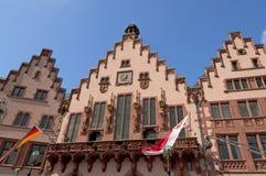 Historisches Romer Quadrat in der Frankfurt-Hauptleitungsstadt Stockbild