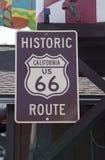 Historisches Route 66 -Zeichen Kalifornien Lizenzfreies Stockfoto