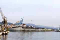 Historisches Schiff nannte Galeb, das wartet wieder angepasst zu werden stockbilder