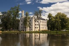 Historisches Schloss in Karpniki, Polen Stockfotografie