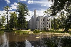 Historisches Schloss in Karpniki, Polen Lizenzfreies Stockbild