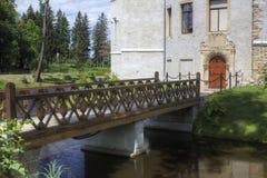 Historisches Schloss in Karpniki, Polen Lizenzfreie Stockbilder
