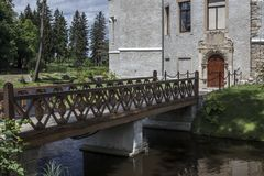 Historisches Schloss in Karpniki, Polen Stockbild