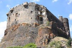 Historisches Schloss von Murol in Frankreich Stockfoto