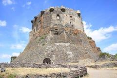 Historisches Schloss von Murol in Frankreich Lizenzfreies Stockfoto