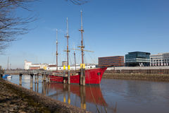 Historisches Segelschiff in Bremen, Deutschland Lizenzfreies Stockfoto