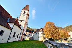 Historisches St. George Church nahe Frohnleiten - Steiermark, ?sterreich lizenzfreie stockbilder