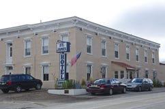 Historisches St. James Hotel Stockfotos
