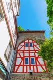 Historisches Stadttor in Herborn, Deutschland stockbilder