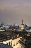 Historisches Stadtzentrum der Dachspitzen Madrid Spanien Lizenzfreie Stockbilder