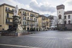 Historisches Stadtzentrum, Quadrat, Marktplatz Mario Cermentani in Lecco, stockbilder