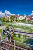Historisches Stadtzentrum von Bremgarten, Aargau, die Schweiz lizenzfreies stockbild