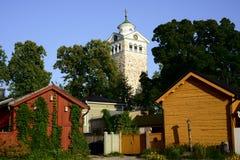 Historisches Stadtzentrum von Tammisaari, Finnland Stockbild