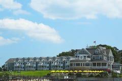 Historisches Stangen-Hafen-Gasthaus im Stangen-Hafen, Maine Stockfotografie