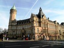 Historisches Turm-Gebäude Luxemburgs Stockfotos